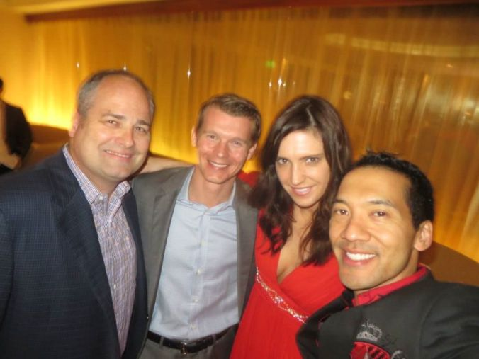 From left to right: Patrick O'Neill (olloclip), Clark Landry (SHIFT), Cat Mangan (Digihaute), and Kevin Winston (Digital LA).